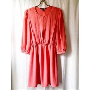 ✨4/$24✨ Flowy, coral-pink mini dress